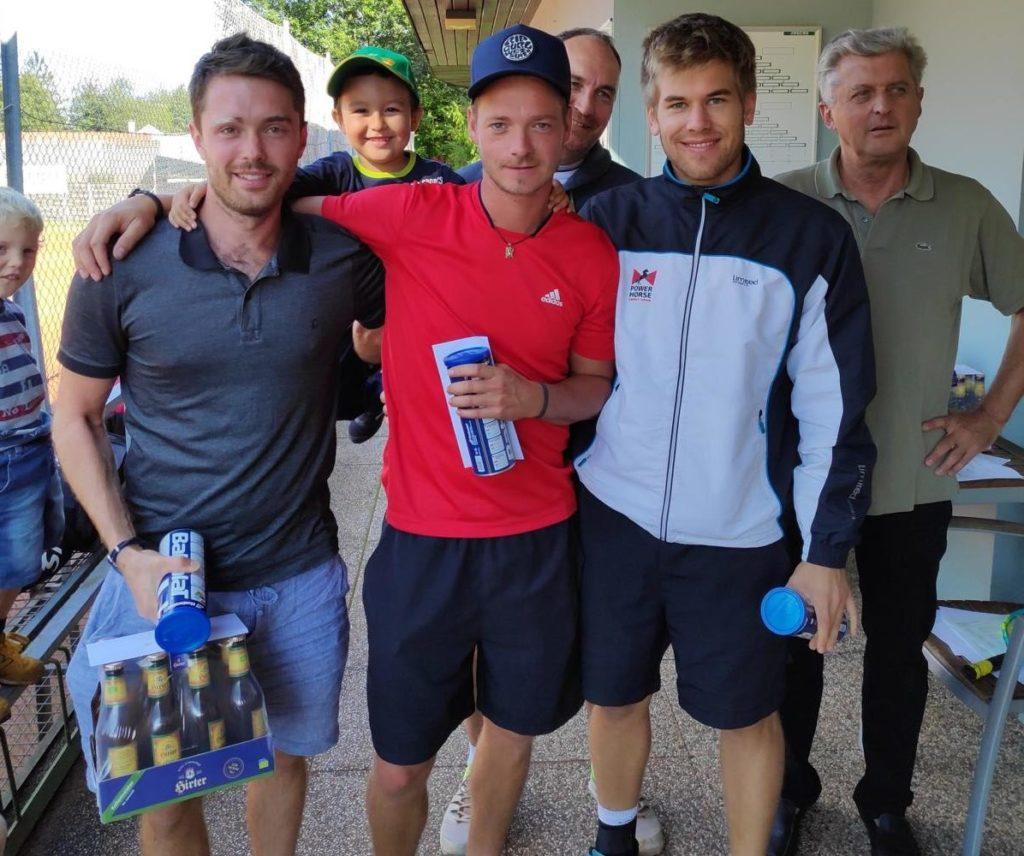 Sieger des Herrenbewerbs Ante Pejic, Platz 2: David Ungericht, Platz 3: Bernhard Melcher